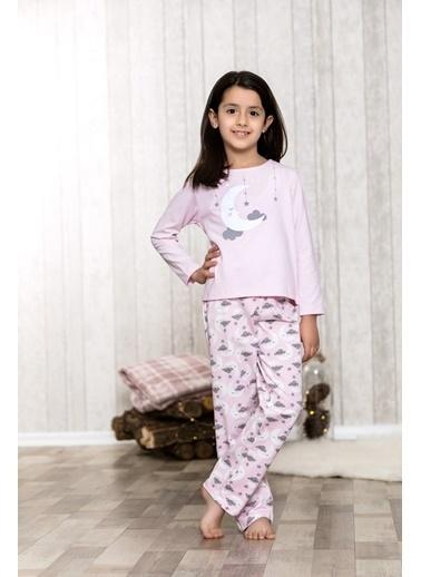 Lingabooms Bulutlu Kadın 2'li Pijama Takım  Pembe